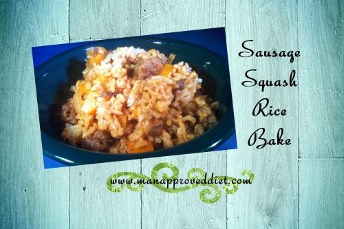 Sausage Squash Rice Bake-001
